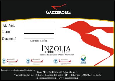 Etichetta dell' Inzolia