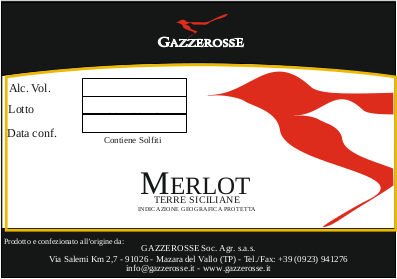 Etichetta del Merlot