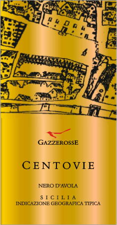 Centovie Nero d'Avola label