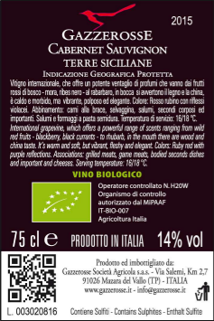 Cabernet Sauvignon back label