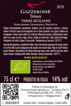Syrah back label