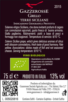 Grillo back label