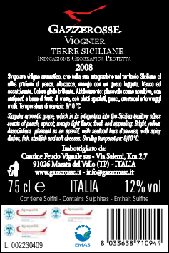 Viognier back label
